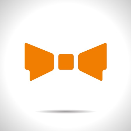 bowtie: Vector orange flat bow-tie icon  Eps10 Illustration