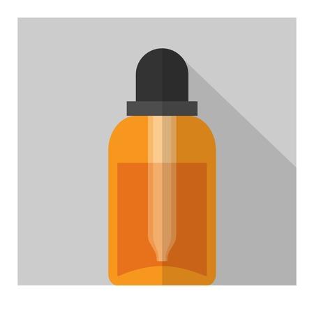 boticário: Vector gotas plana garrafa. Elementos de sa