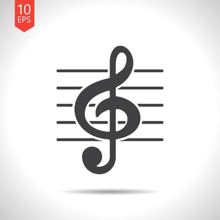 eight note: Vector music icon. Eps10