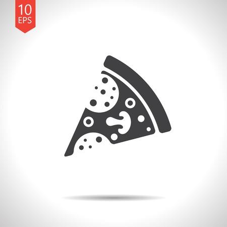 Vector pizza icon.