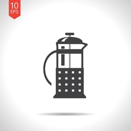 masher: Vector teapot icon.  Illustration