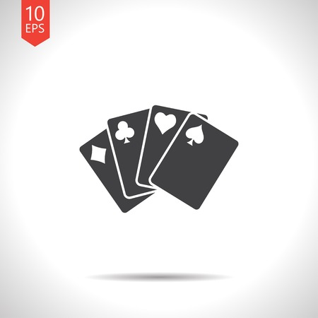 playing: Vector game cards icon.