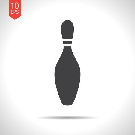 kegelen: Vector platte kegel pictogram geïsoleerd op wit. Eps10 Stock Illustratie