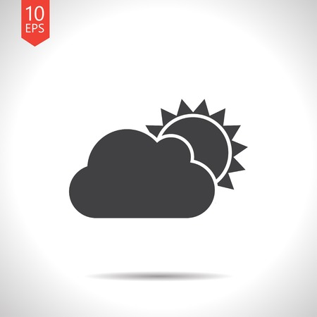 cloudiness: Vector flat cloudiness icon  isolated on white. Eps10