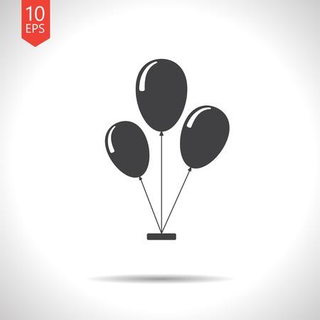 ballon: Vector flat isolate  three balloons flat icon. Eps10