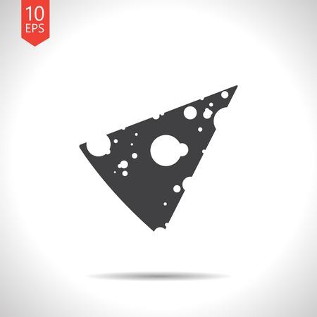 slab: Vector slab of cheese flat icon. Eps10 Illustration