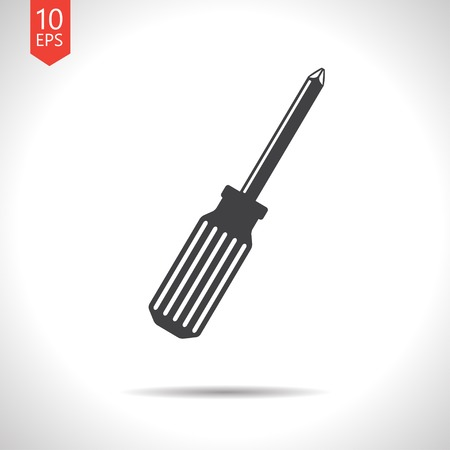 phillips: Vector gray phillips screwdriver flat icon. Eps10