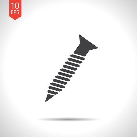 Vector screw flat icon with shadow. Eps10