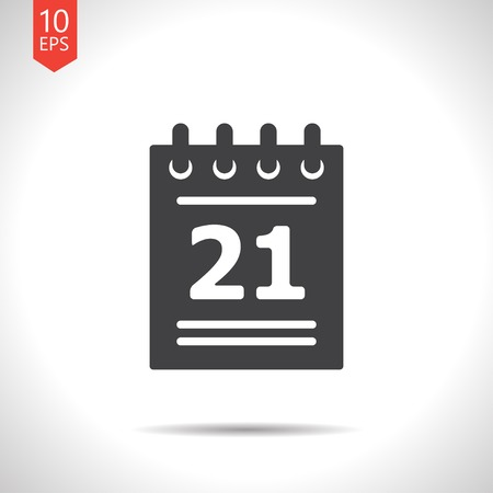 Vector flat calendar icon isolated on white. Eps10 Ilustrace