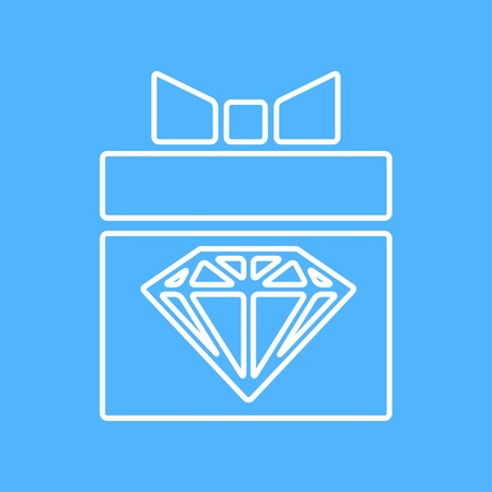 buttons: Vector  flat present with diamond icon. Eps10