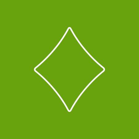 Vector flat isolate game rhombus icon. Eps10 Vector