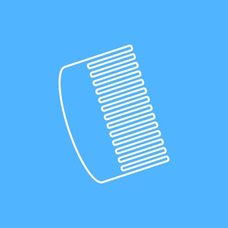 hairbrush: Vector white hairbrush flat icon outline. Eps10