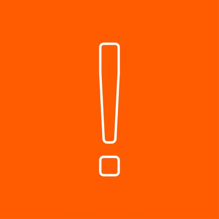 exclaim: Vector flat exclamation mark icon outline. Eps10