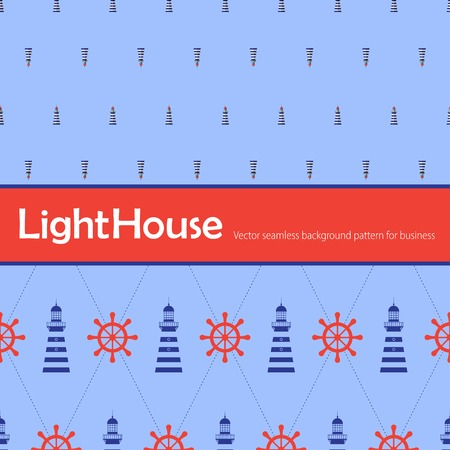 lighthouse keeper: Vector  color lighthouse seamless background pattern. Eps10 Illustration