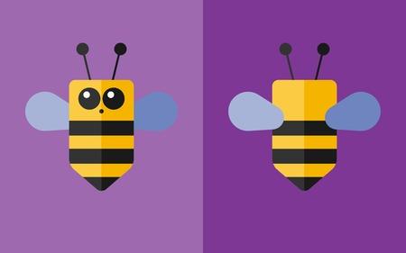 bee: Vector flat animal. Bee icon. Flat zoo. Eps10