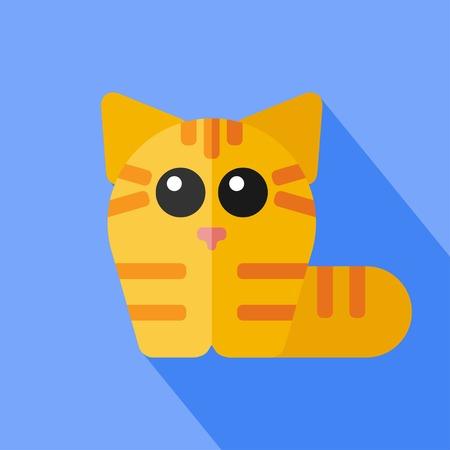 tomcat: Vector flat animal. Cat icon. Flat zoo. Eps10