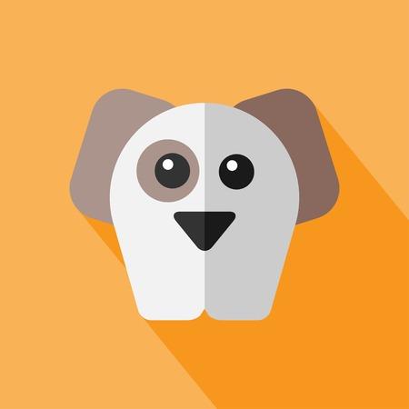 beagle puppy: Vector de animales plana. Icono de perro. Zool�gico plana. Eps10 Vectores