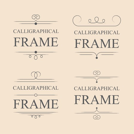 decorative: Vector calligraphic frame elements. Decorative elements. Eps10 Illustration