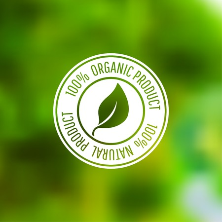 유기농 식품과 천연 제품 벡터 아이콘입니다. EPS10 일러스트