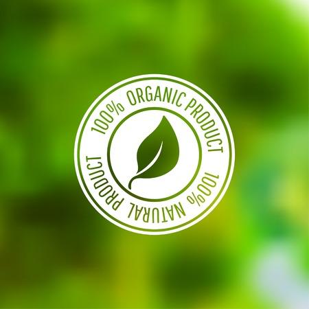 Vector pictogram voor biologische voeding en natuurlijke producten. Eps10
