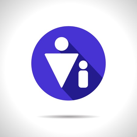 supplementation: Vector single father flat blue icon.