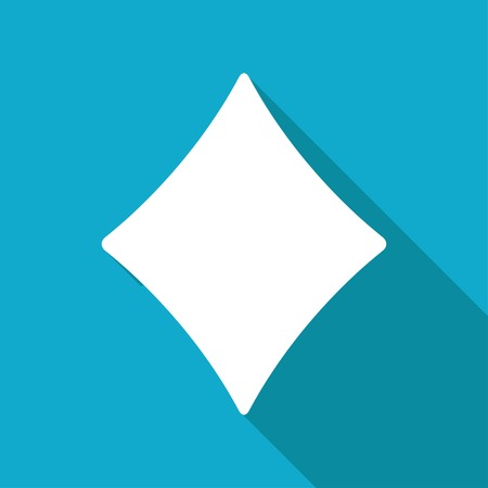 r image: Vector aislado plana icono del juego rombo.