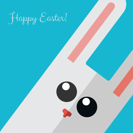 cartoon easter basket: Vetor happy Easter card Illustration