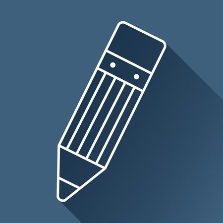 eraser mark: pencil icon.  Illustration