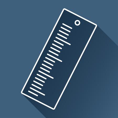 ruler: Vector ruler icon. Eps10 Illustration