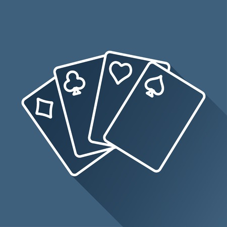 black and white image: game cards icon.
