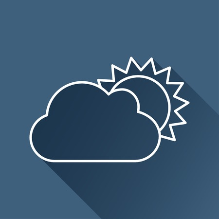 cloudiness: flat cloudiness icon  isolated outline.