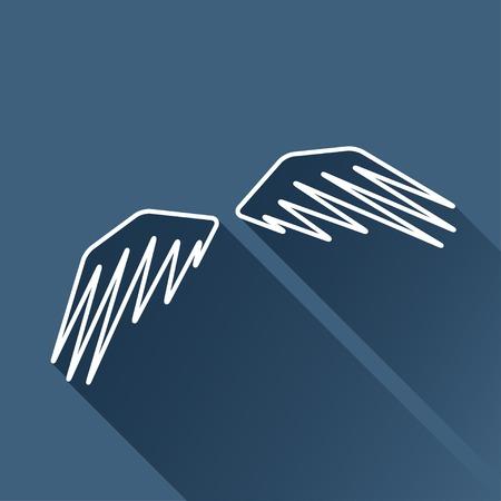wings icon: isolare contorno piatta icona ali.