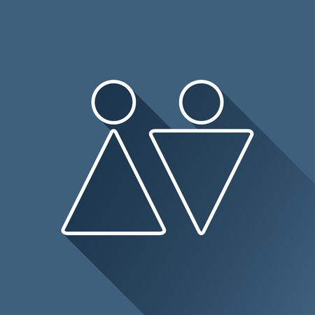 heterosexual: pareja heterosexual esquema plana.
