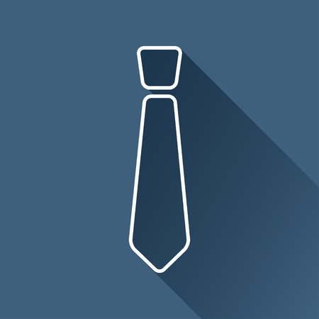 to tie: flat isolate outline tie icon.  Illustration