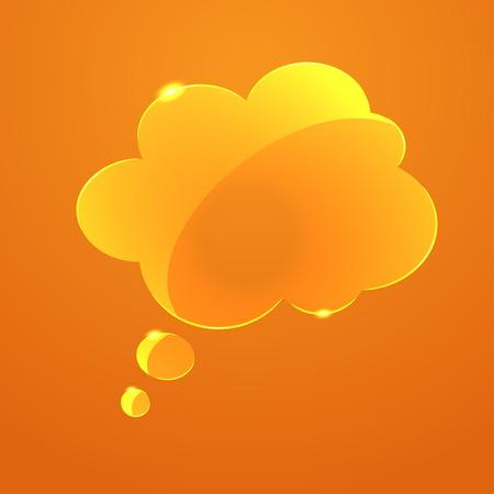 callout: Vector glass callout cloud icon. Eps10