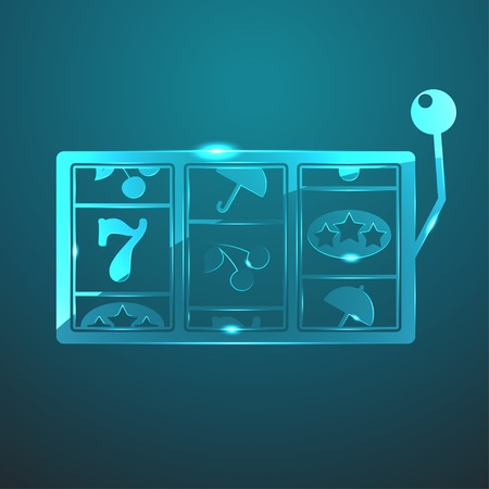 lever arm: Vector glass slot icon