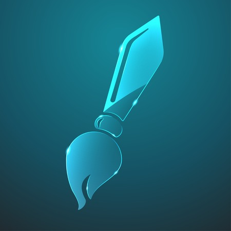 Vector glass brush icon Vector