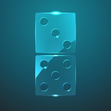 domino: Vector glass domino icon