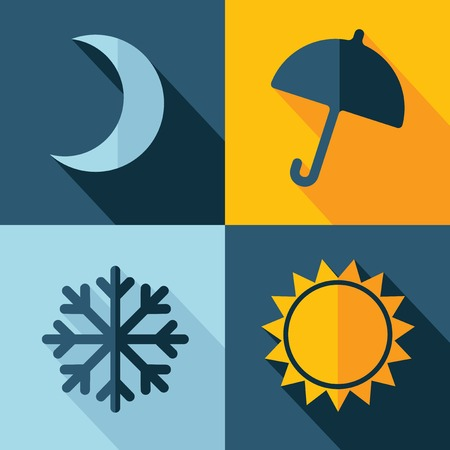 crescent moon: Vector weather set icon. Eps10