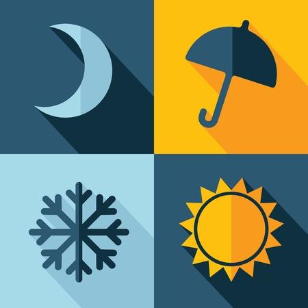 słońce: Wektor pogoda zestaw ikon. Eps10
