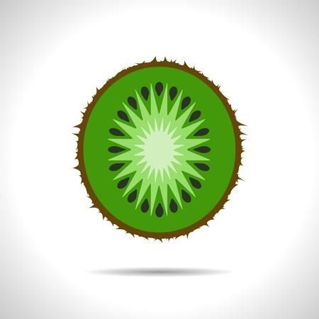 fruitage: Vector kiwi icon. Eps10 Illustration