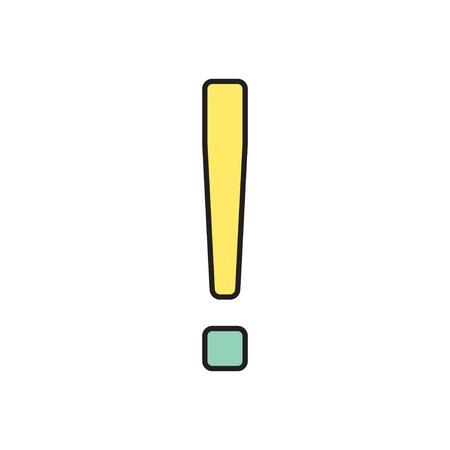 акцент: Вектор восклицательный знак значок. Eps10