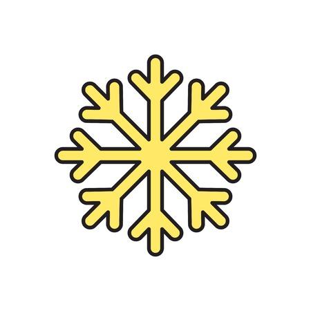 snowflake: Vector snowflake icon. Eps10