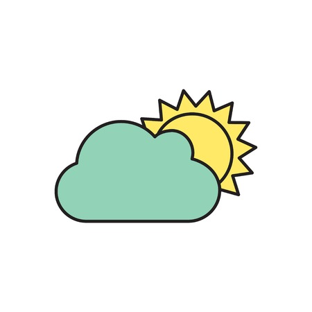 nebulosidade: Vector cloudiness icon. Eps10