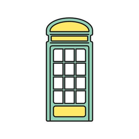 Vector telephone box icon. Eps10 Vector