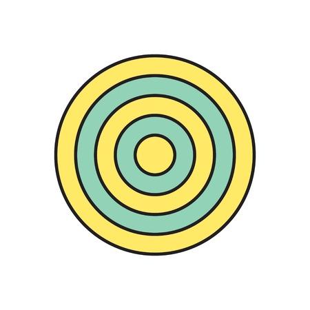 concentric circles: Vector icono de destino. Eps10