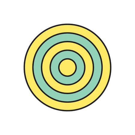 concentric circles: Vector target icon. Eps10