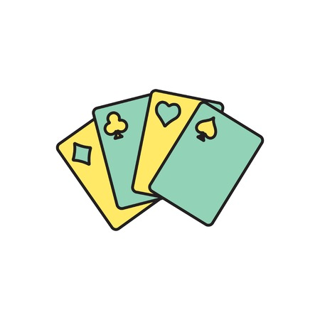game cards: Vector game cards icon. Eps10 Illustration