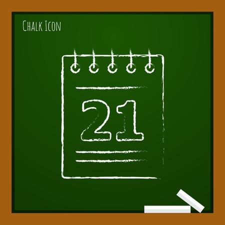 time bound: Vector calendar  icon. Eps10
