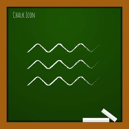 crankle: Vector waves icon.